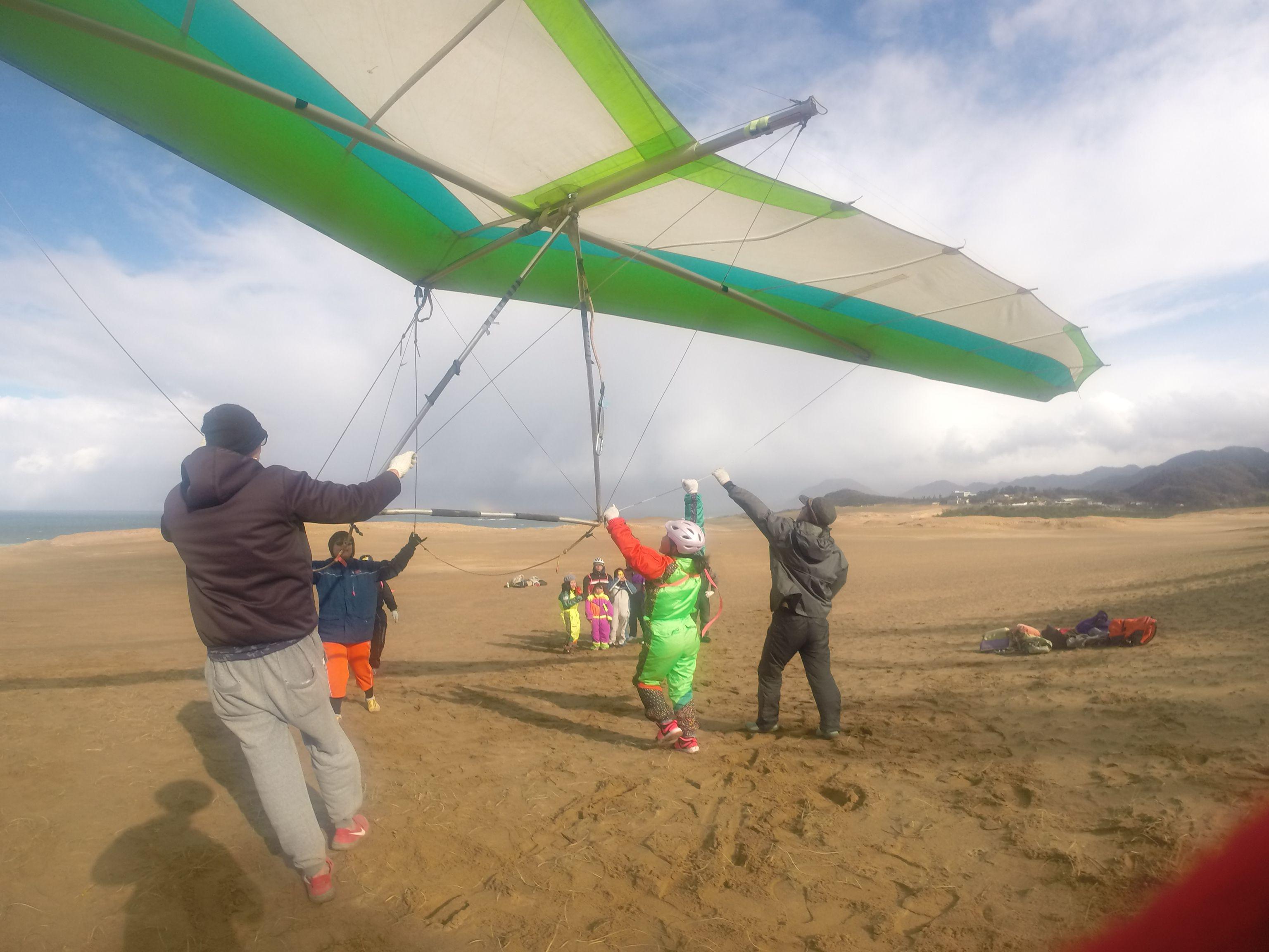 まずは簡単に飛べるハンググライダーに挑戦