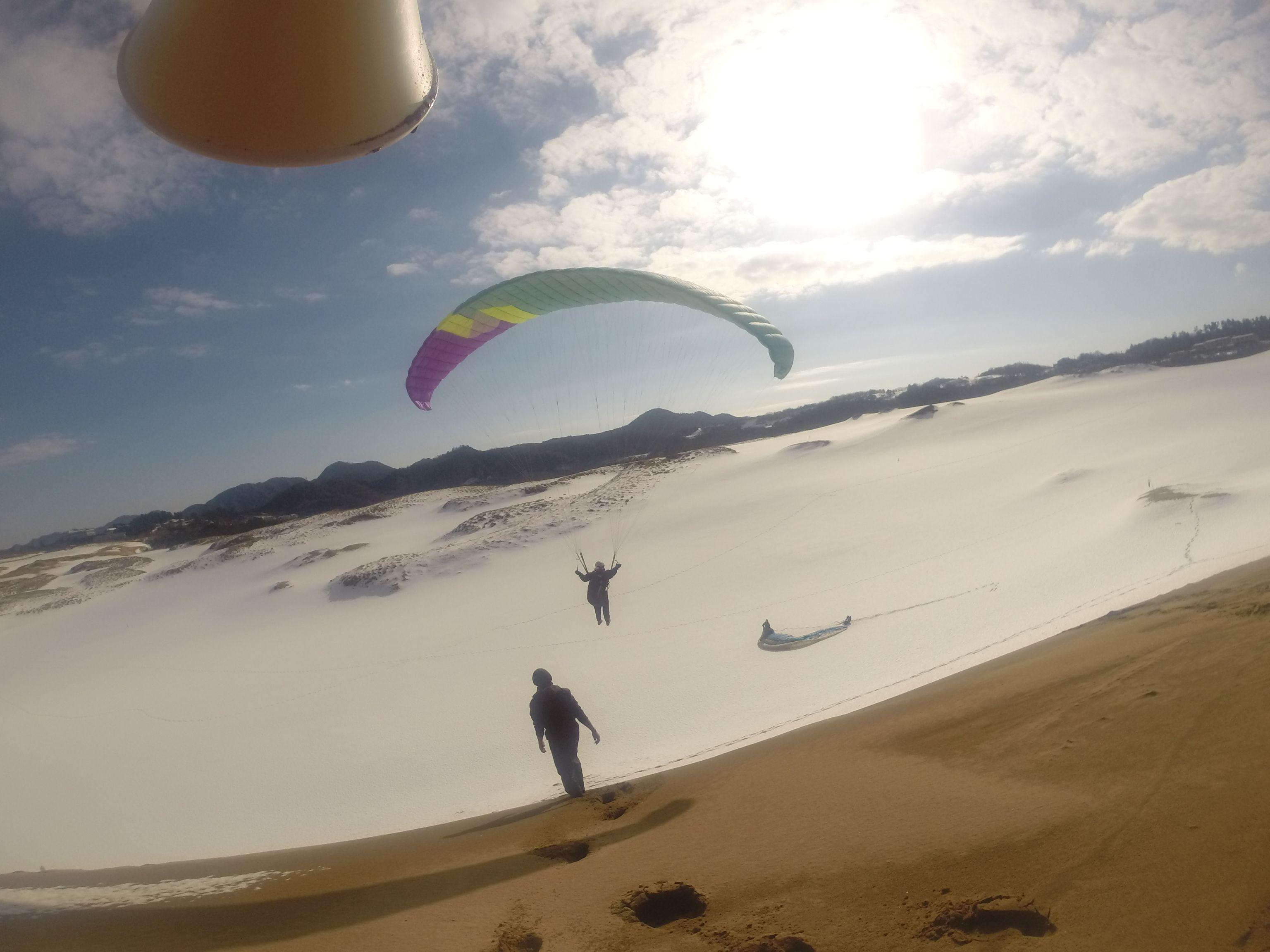 優雅に楽しめた、冬のパラグライダー体験