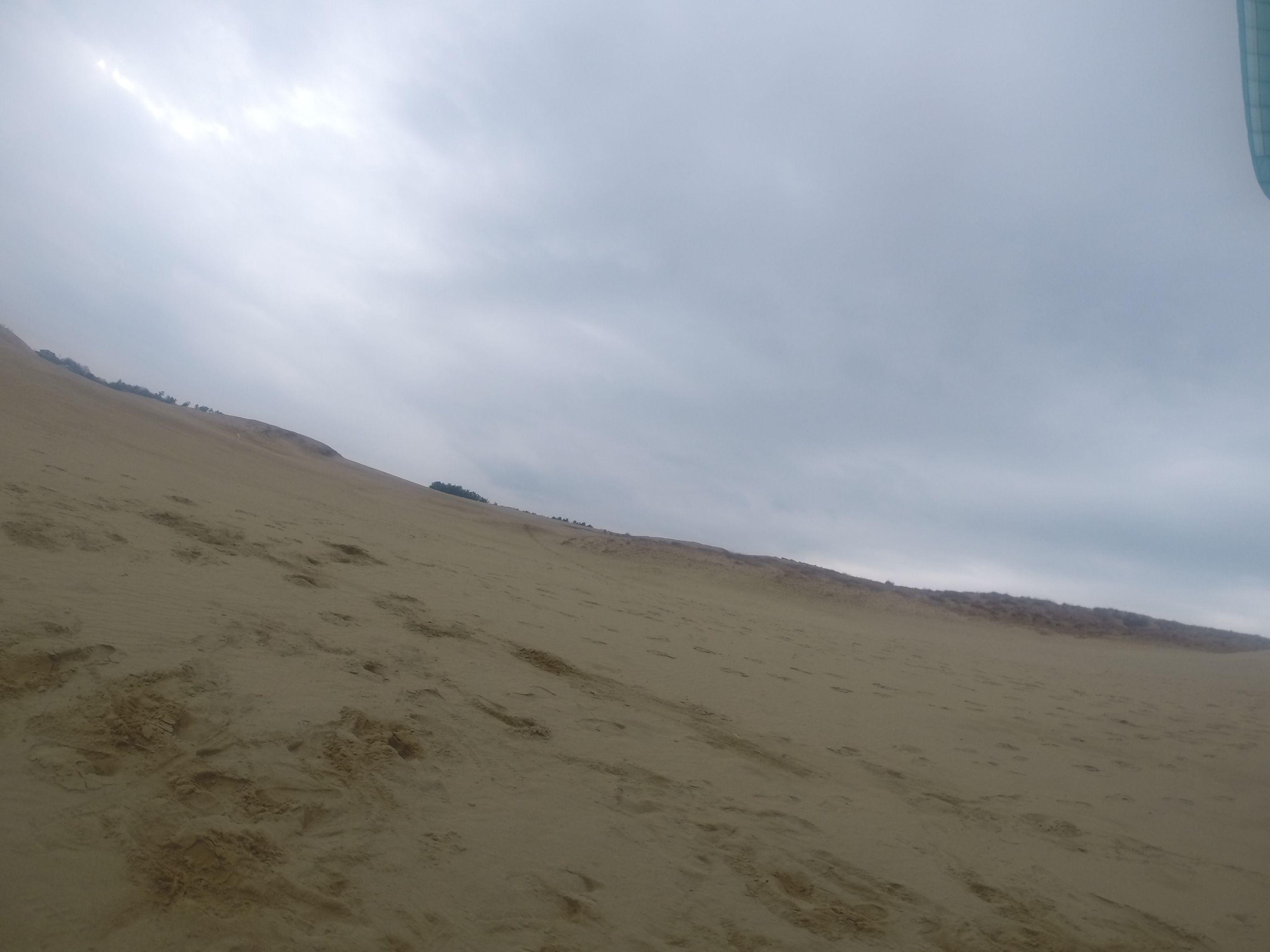 すっかり冬景色の鳥取砂丘