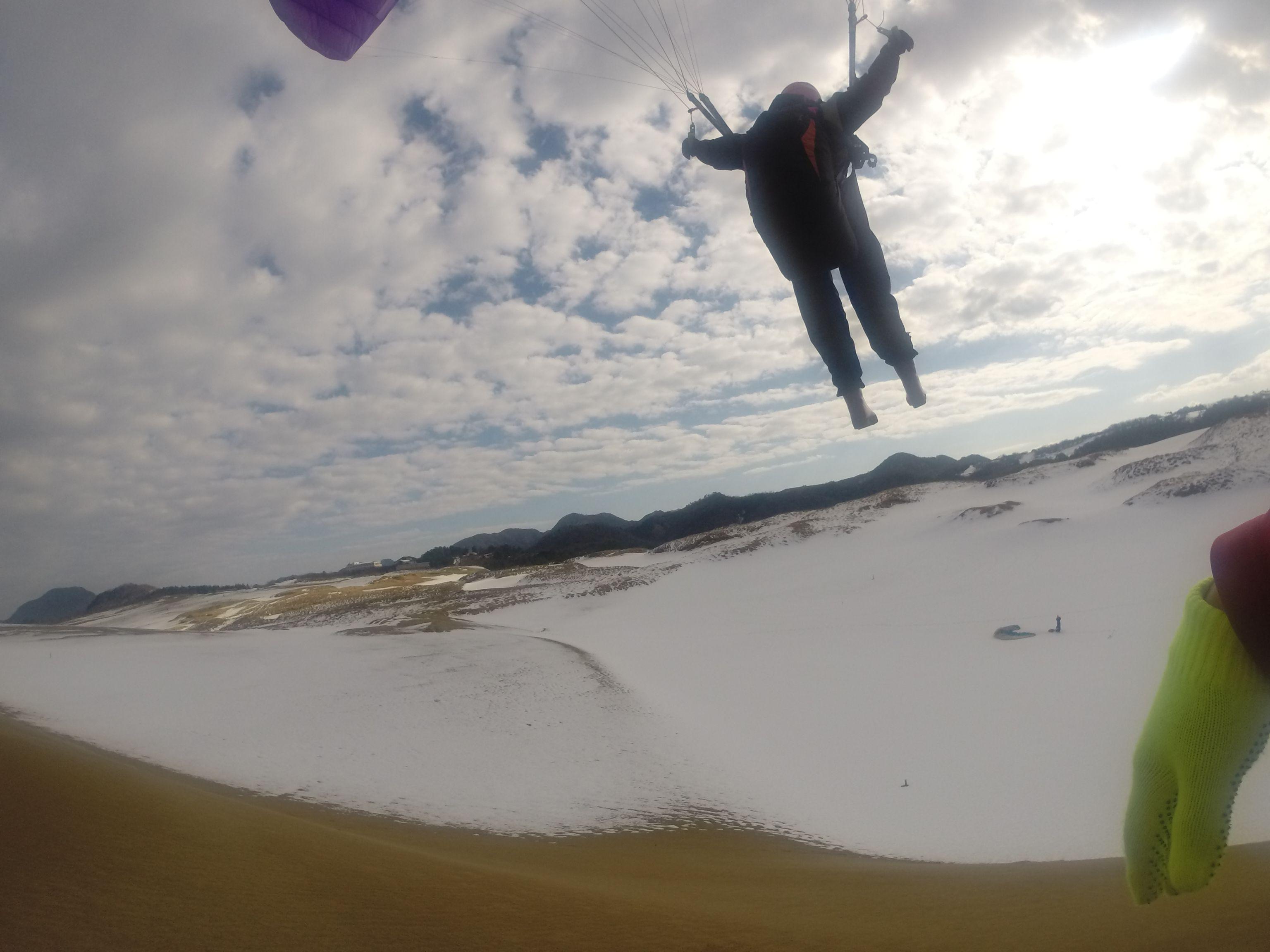 冬なのに、最高の飛行が楽しめました