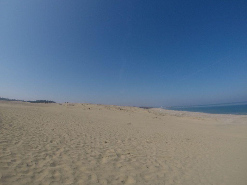 青空たっぷりの鳥取砂丘