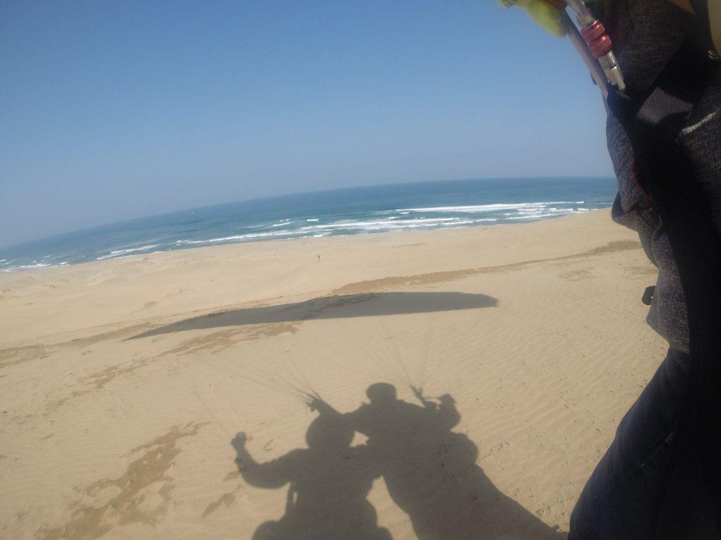 しっかり走って海へ向かってテイクオフ