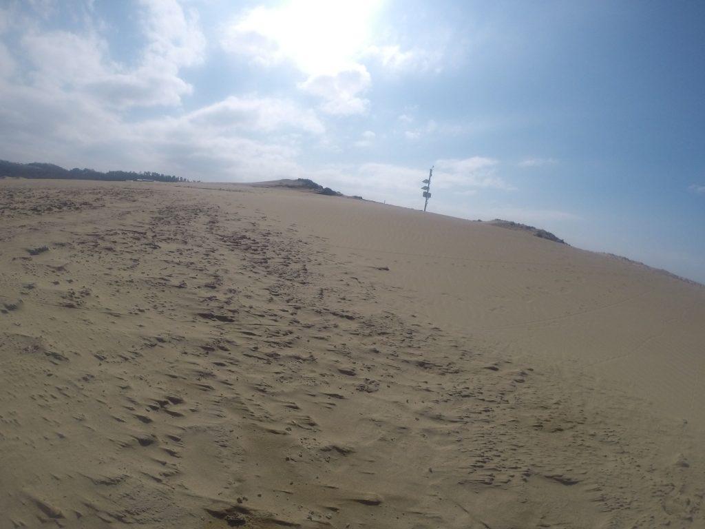 春の嵐が過ぎ去ったばかりの鳥取砂丘