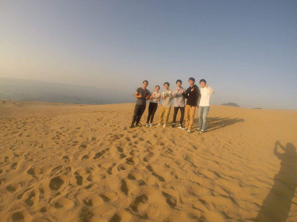 オーストラリアからのカップルさんもはるばる砂丘へ