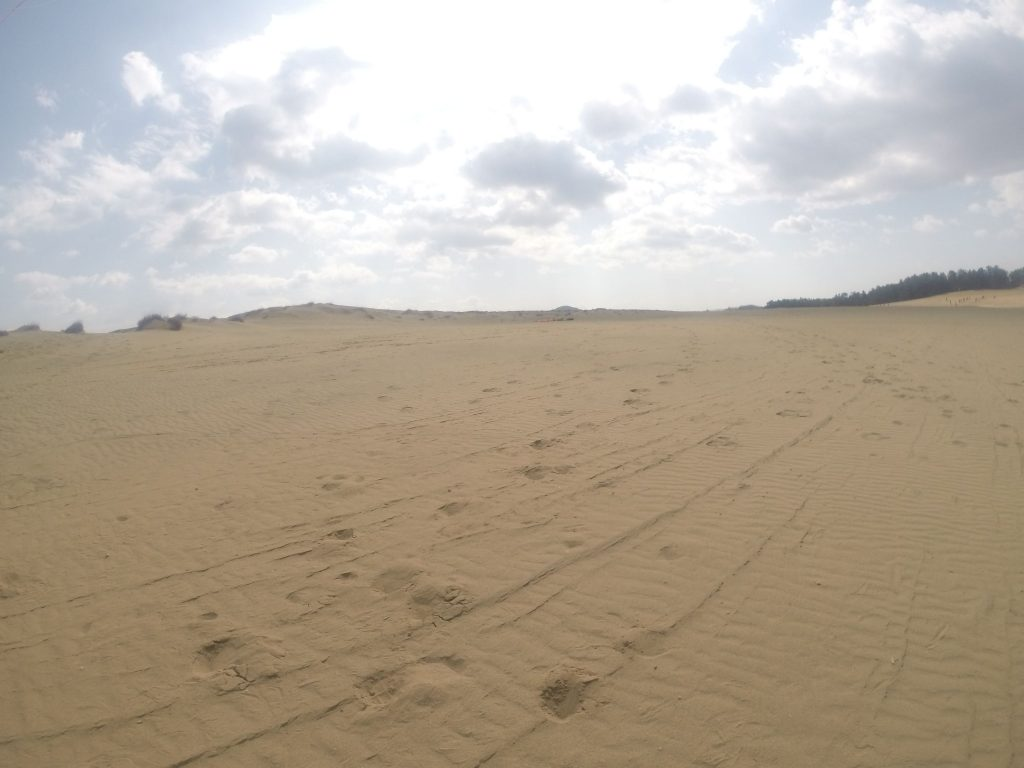 晴れてたけど、やがて曇ってきた鳥取砂丘