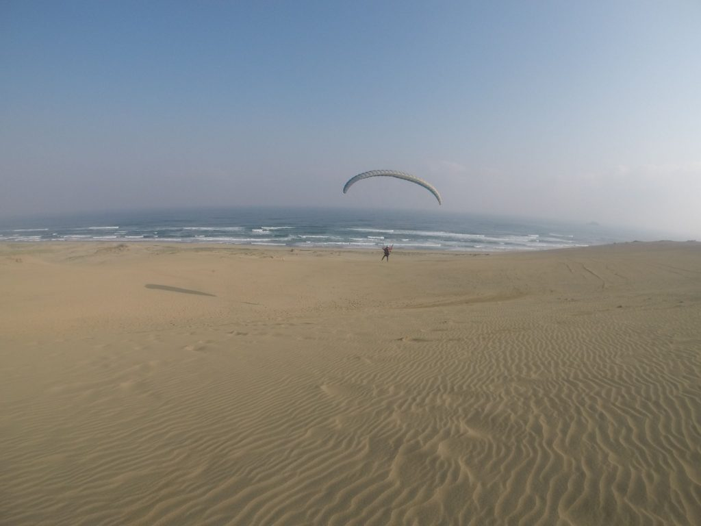 風紋キレイな空で飛んでます