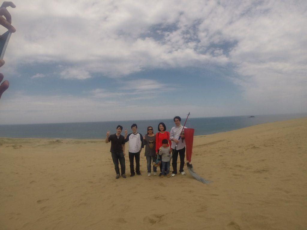 雲の綺麗な砂丘で飛べました 午前の部