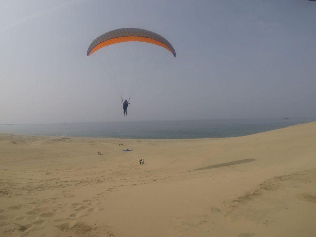 たまに上昇気流に乗ると、遠くまで飛べたり