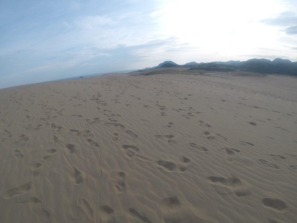 朝は微妙に日差しを感じた鳥取砂丘