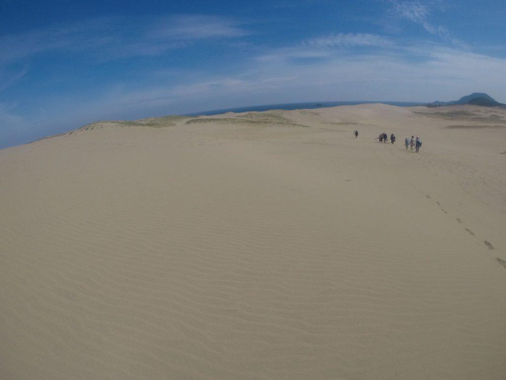 晴天と南風で急に暑くなった鳥取砂丘