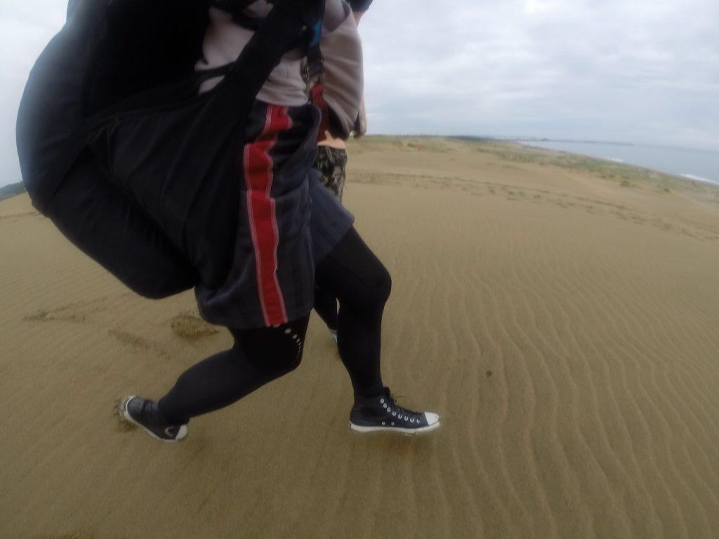 風が弱めなので、とにかく走り続けて!