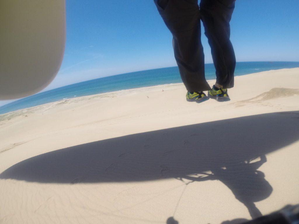 キレイな海に向かって飛ぶこともできました