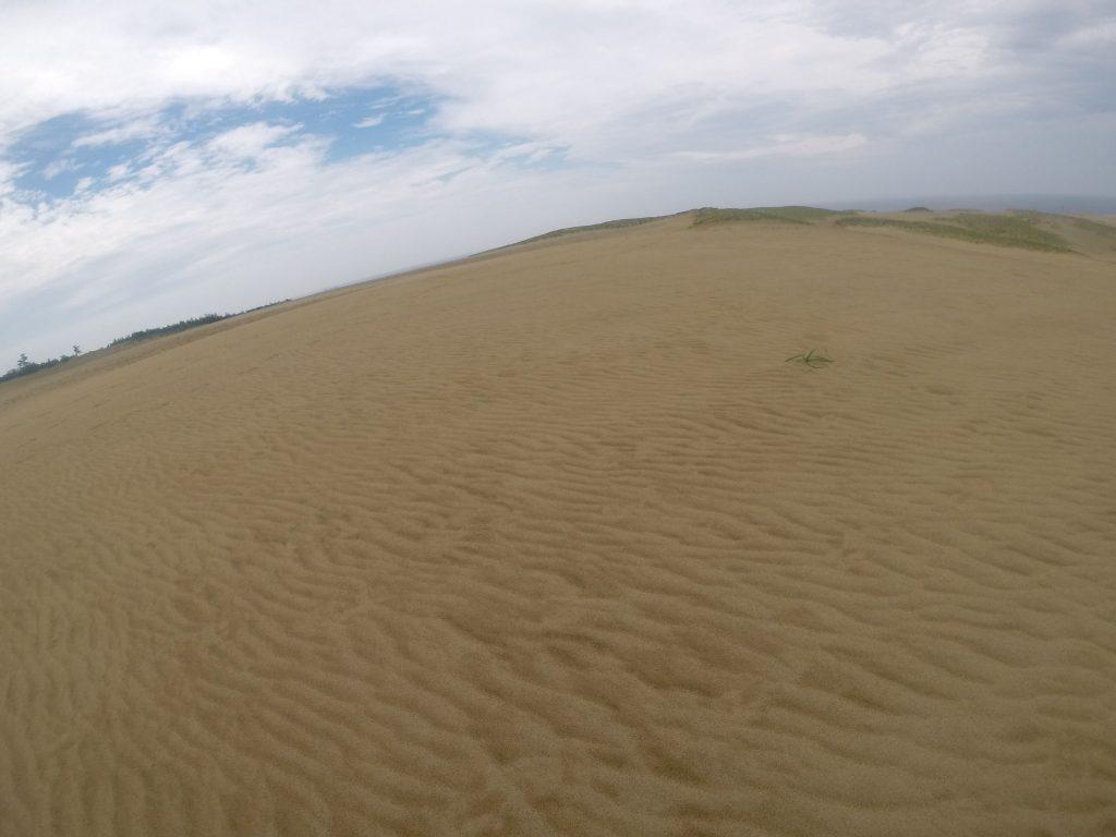 西の空に青空が見えてきた鳥取砂丘