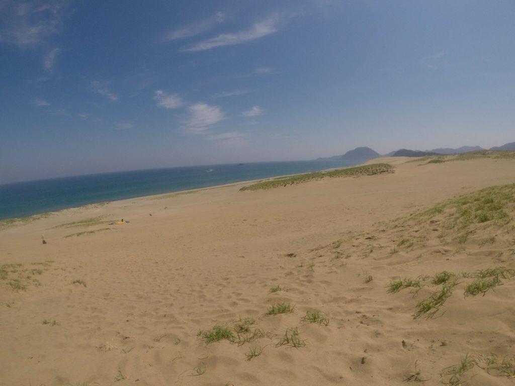 のびやかな晴れ間が広がった鳥取砂丘