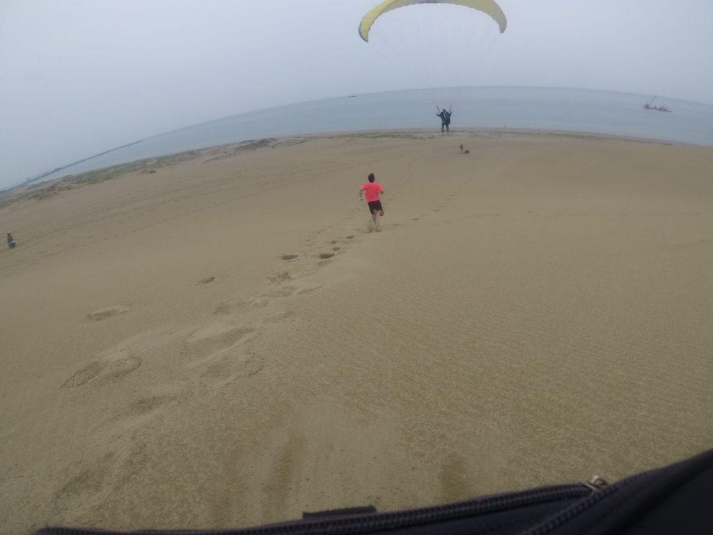 海に向かって、のびやかなフライトが楽しめましたね^^