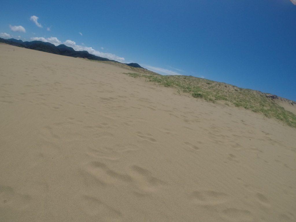 美しい青空が広がった鳥取砂丘