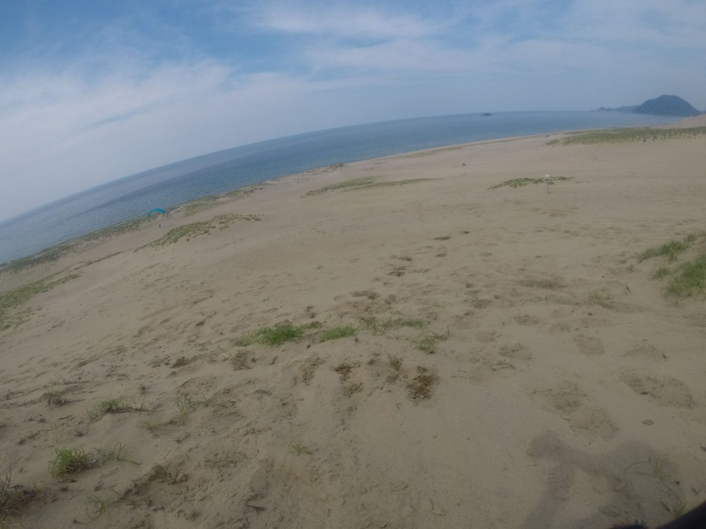 潮の変わり目が観察できた鳥取砂丘