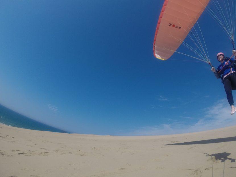 のびのびフライト三昧、飛びやすい北西の風