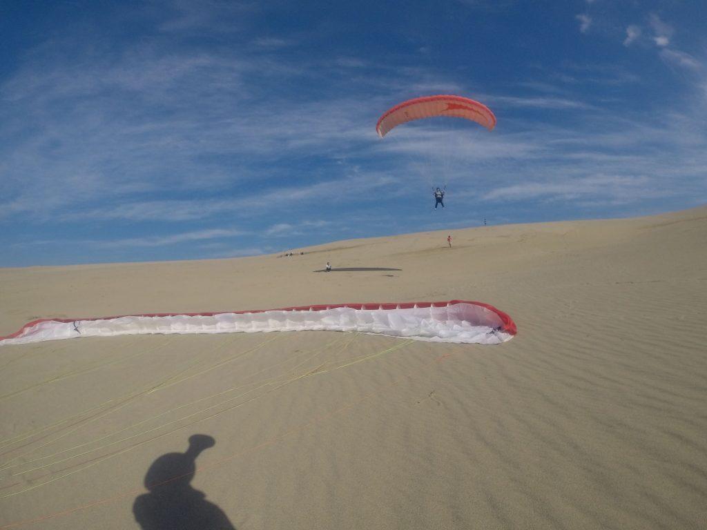うまく風に乗って、気持ちよく滑空できました