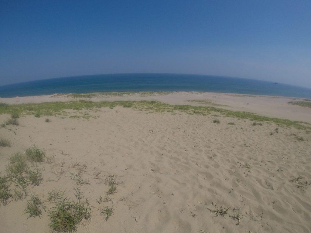 静かに風が流れる鳥取砂丘
