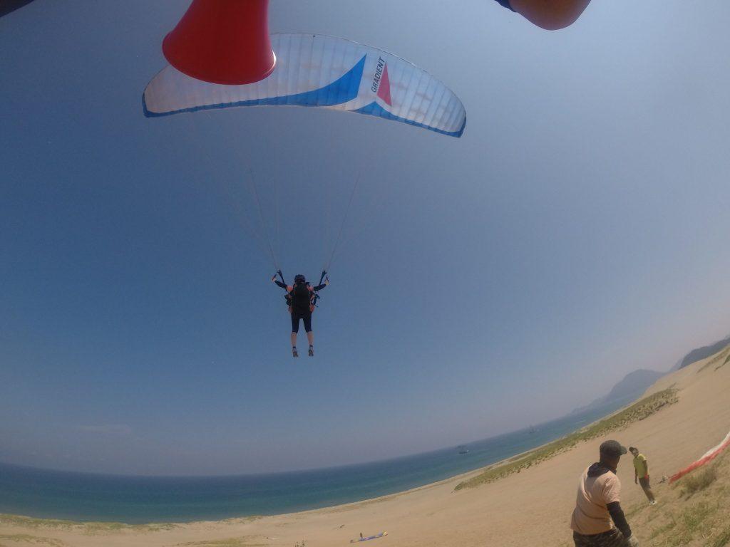 気持ちいいのは空中にまさに飛び出した、この瞬間!
