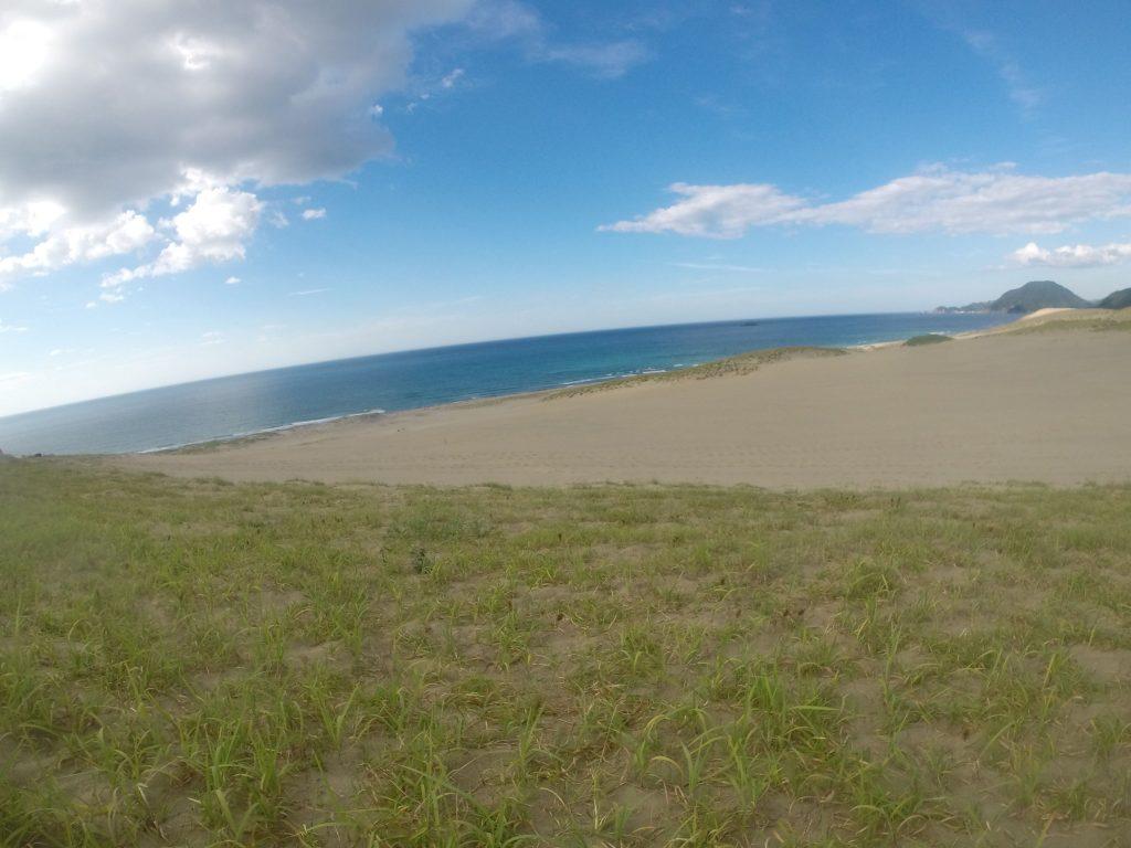 塵や埃が洗い流されて、美しい風景となった鳥取砂丘