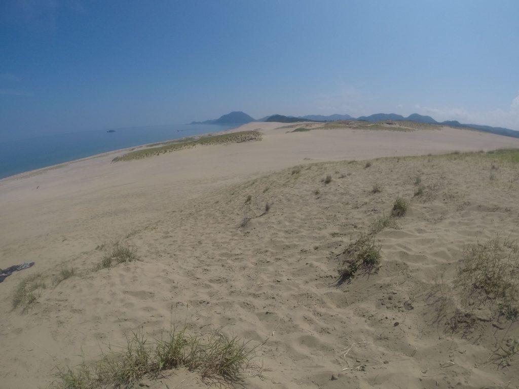 早い段階でそよそよ海風が吹いていた鳥取砂丘