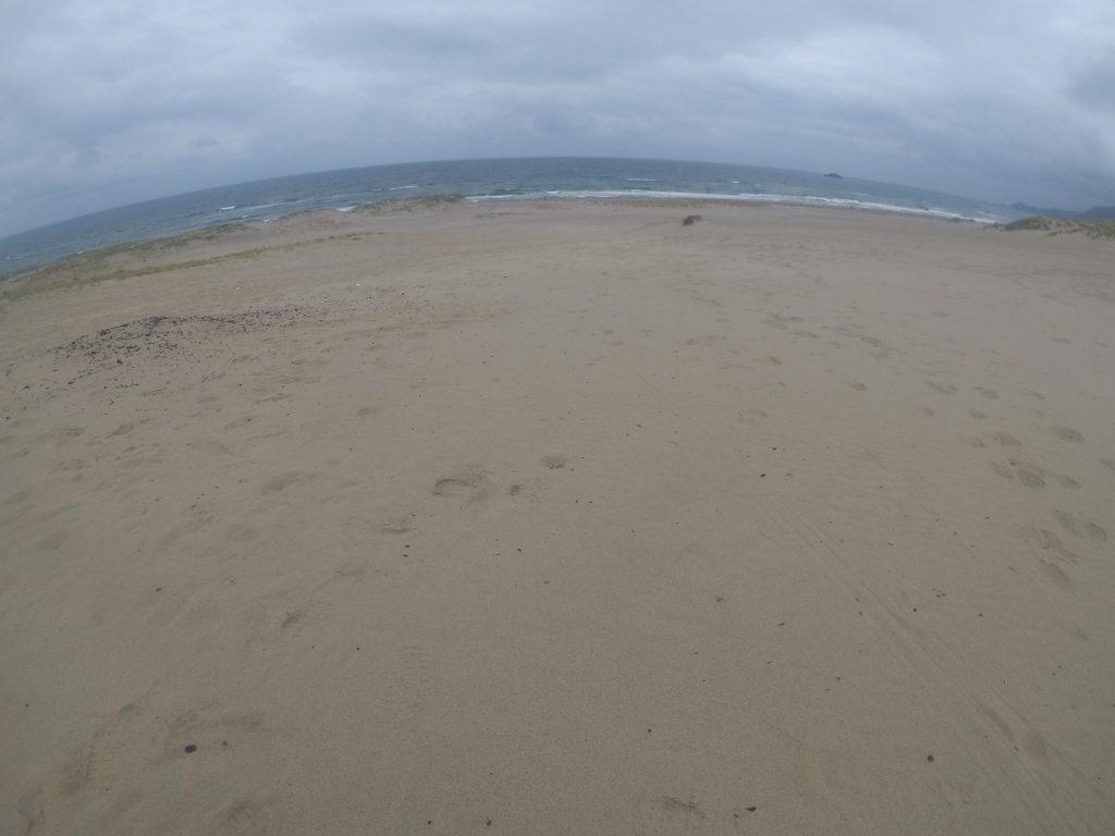 クラウディだけど、やたら涼しい鳥取砂丘