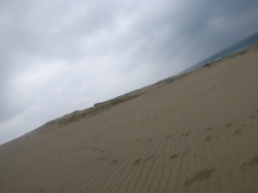 どんより曇って、いつもよりずっと涼しい鳥取砂丘