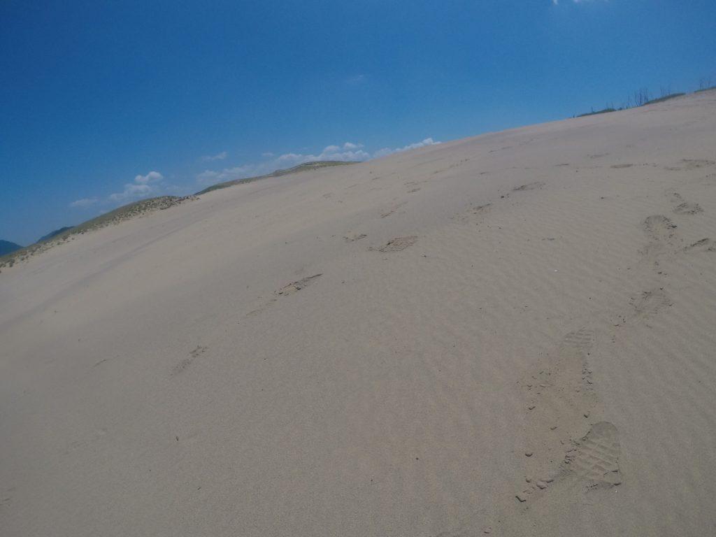 完全に砂と空だけの世界、鳥取砂丘