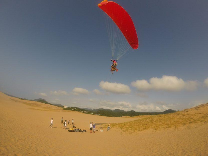 クールダウンした鳥取砂丘は、最高のフライトポイント