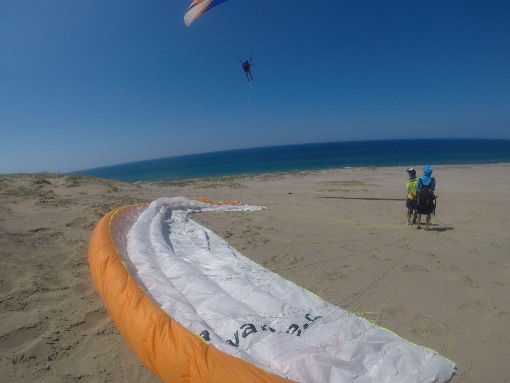 鳥取砂丘の空をダイナミックに楽しみました
