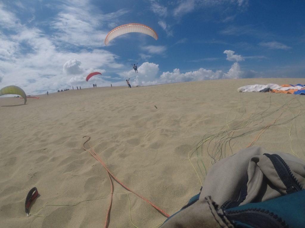 風が安定していて飛びやすいので、どんどんテイクオフ