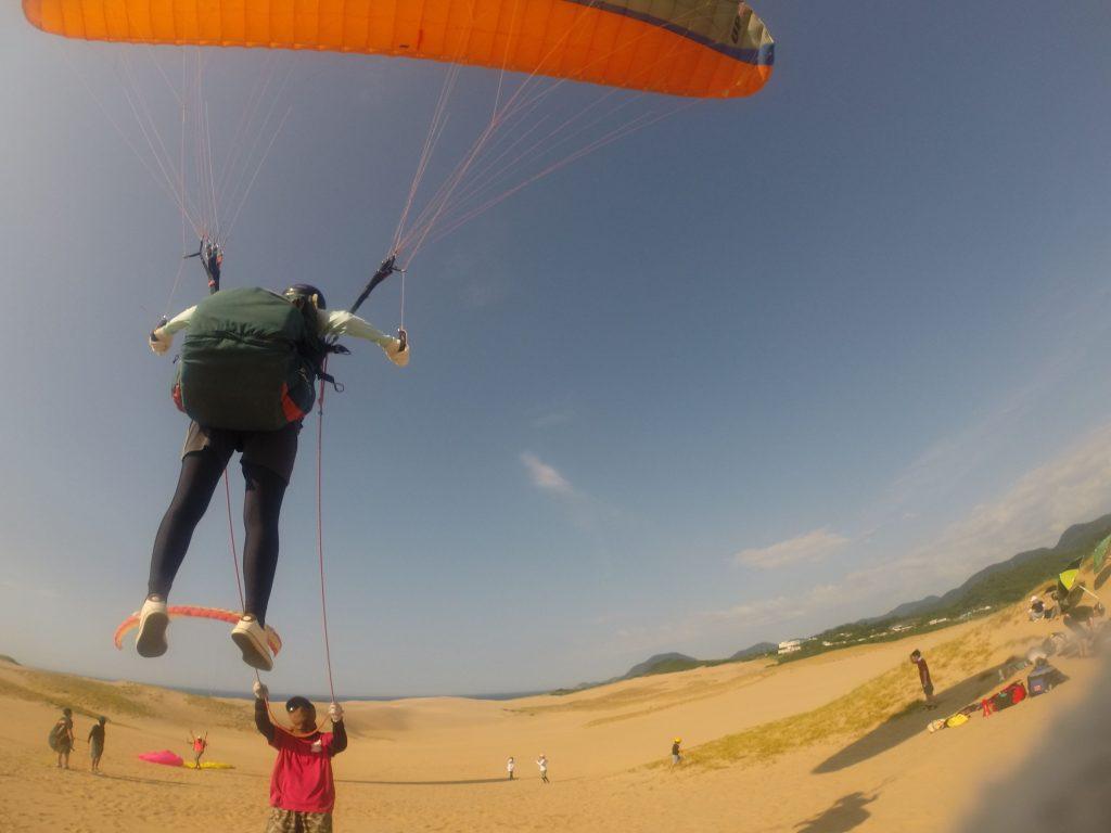 飛びながら眺める、鳥取砂丘のパノラマがおみごと