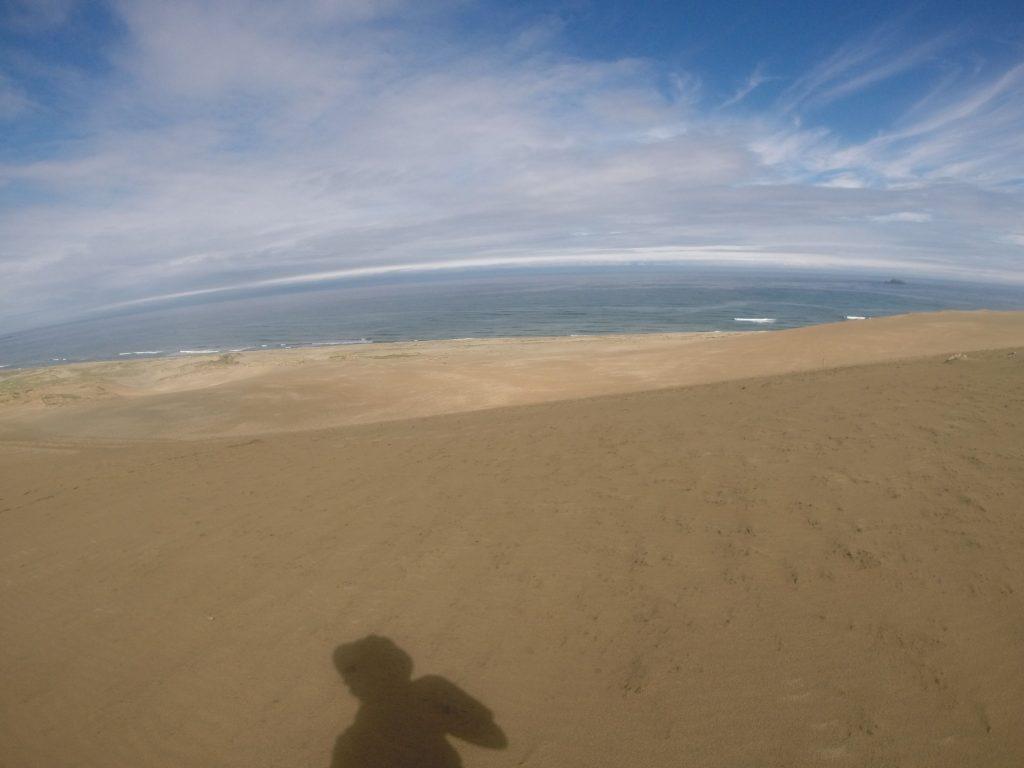 絶妙な色合いの空が楽しめた鳥取砂丘