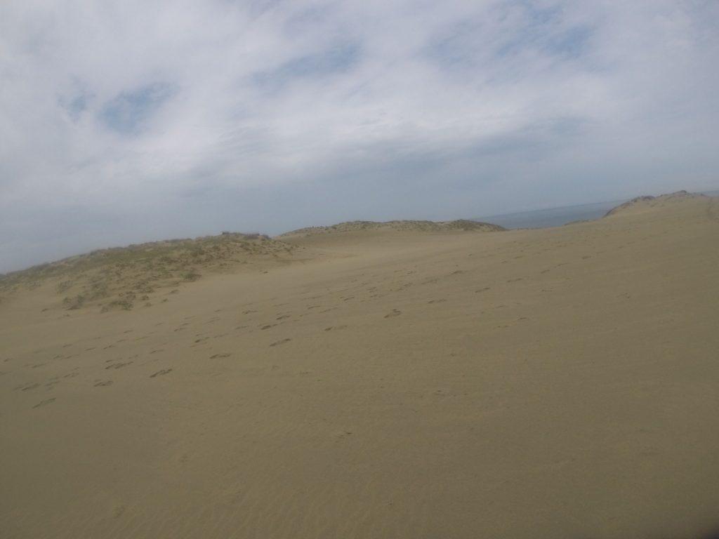 晴天も束の間、だんだん曇ってきた鳥取砂丘