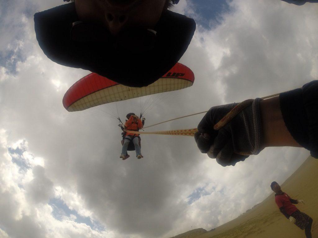 高い視点を得て、飛びながら写真撮影を楽しまれました