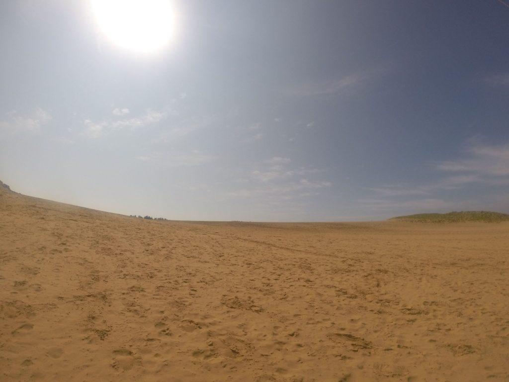 久しぶりにしっかり太陽が顔を出した鳥取砂丘
