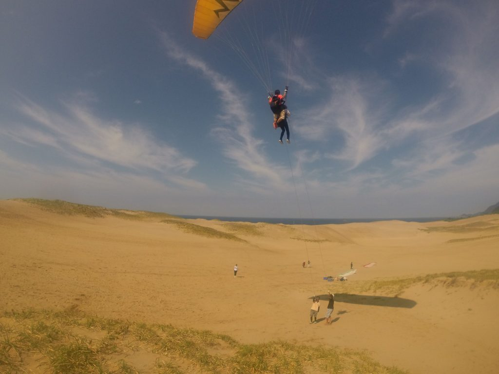 空高くから、雄大な砂丘の風景を満喫しました^^