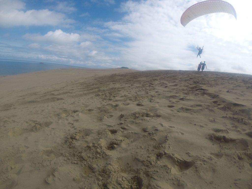 大気中をするする滑るように飛んでいく様子に、すっかり大興奮でしたね