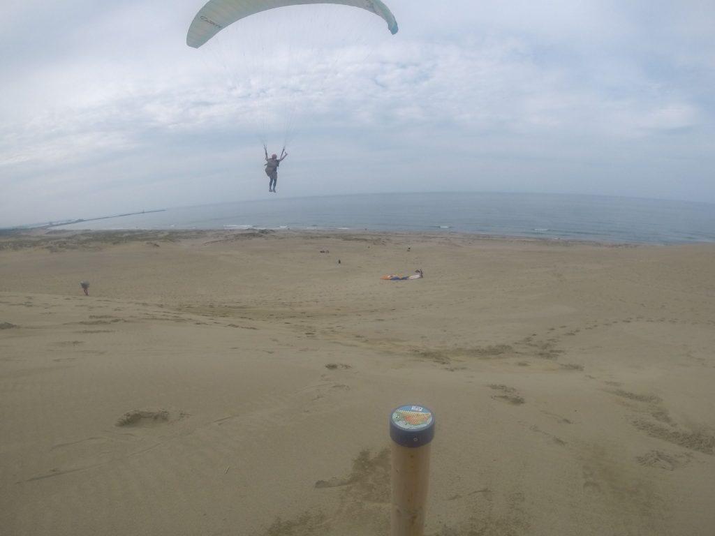 あまりに気持ちよく飛びすぎて、海まで届いてしまいそうな錯覚に、、
