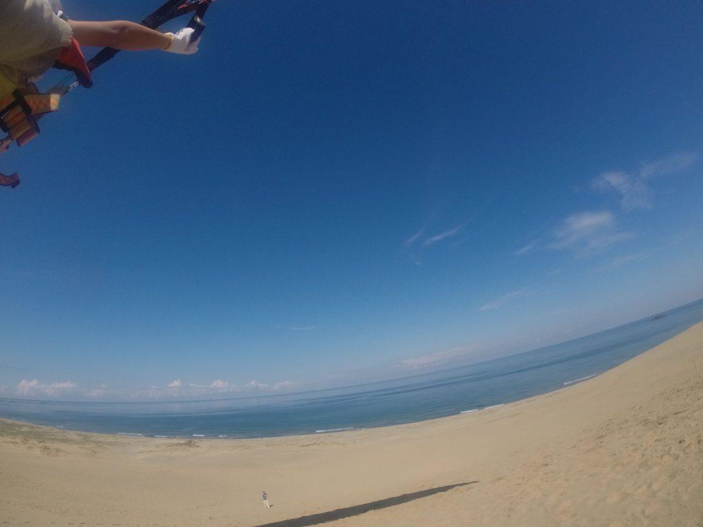 爽快な日本海の風景が楽しめる鳥取砂丘