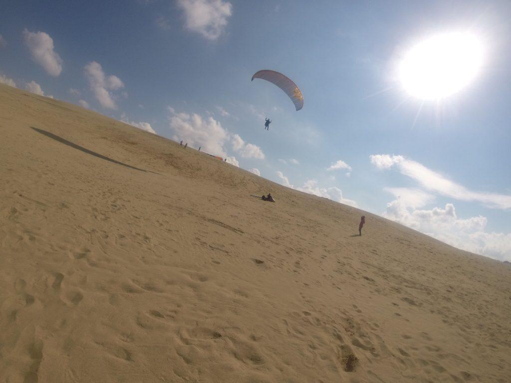 慣れてくるとより高く、空中を滑るように飛ぶことができました