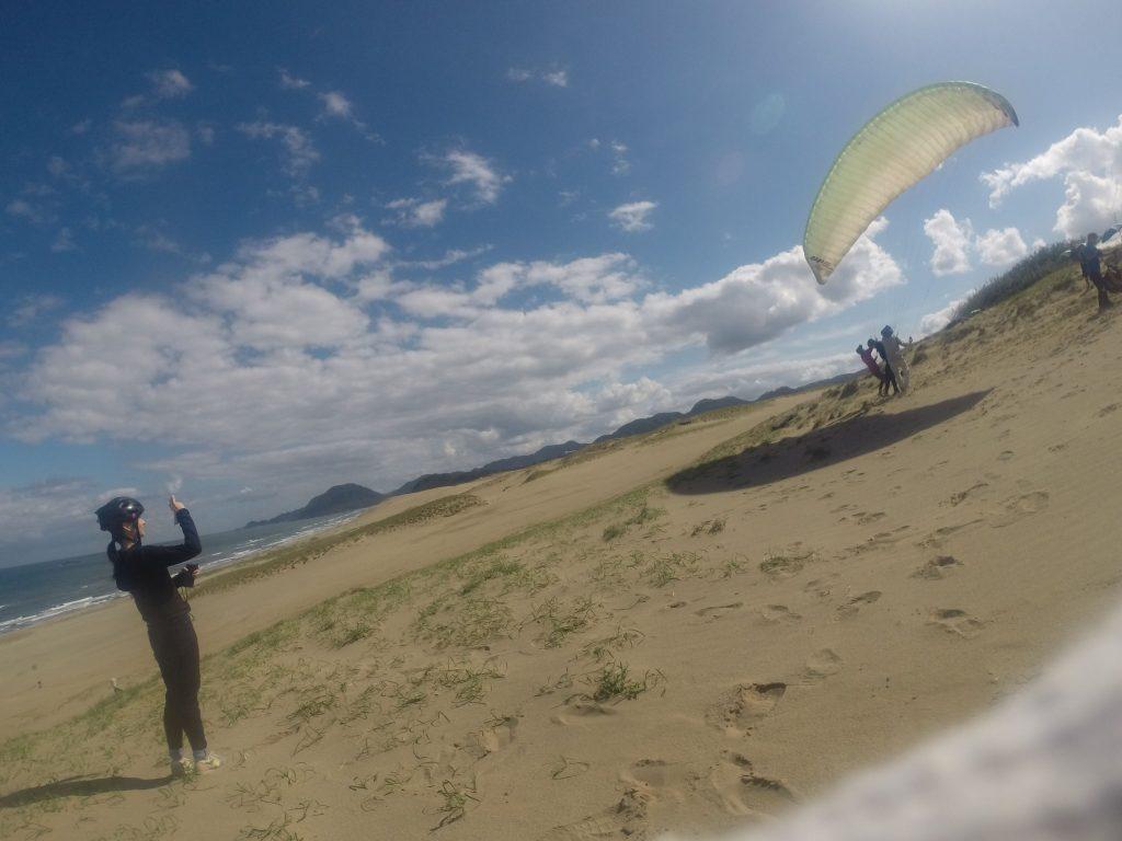 風が弱めだったので、助走距離をとってスタート