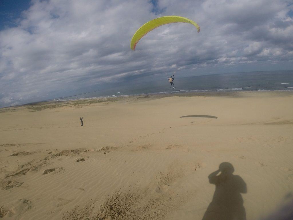 ちょうどよい風に乗りながら、気持ちのいい滑空が楽しめました