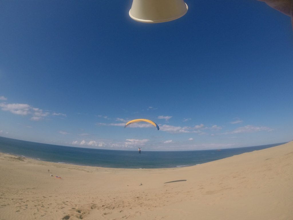 いい風がいっぱいあって、面白いように距離がのばせました