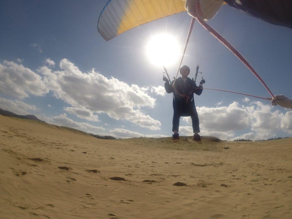 あっという間に浮き上がって、風を感じながらロングフライト