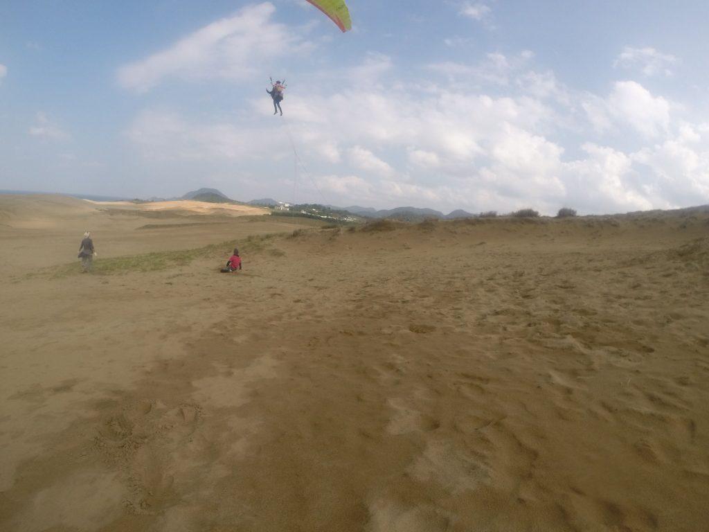 砂丘を見渡すビッグフライトで締めくくることができました