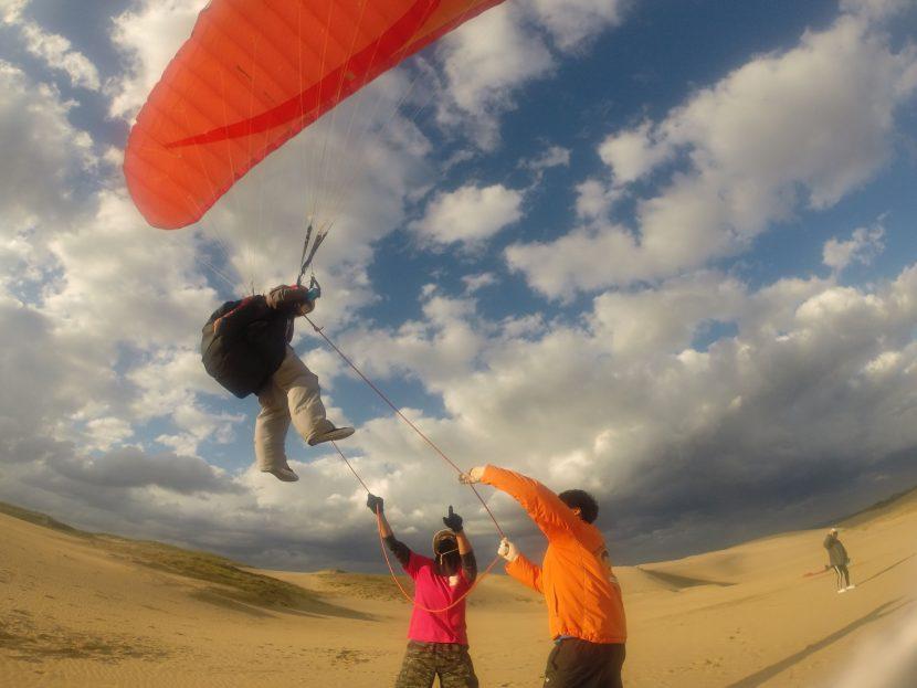 パワフルな風をつかまえて、長時間フライトが楽しめました