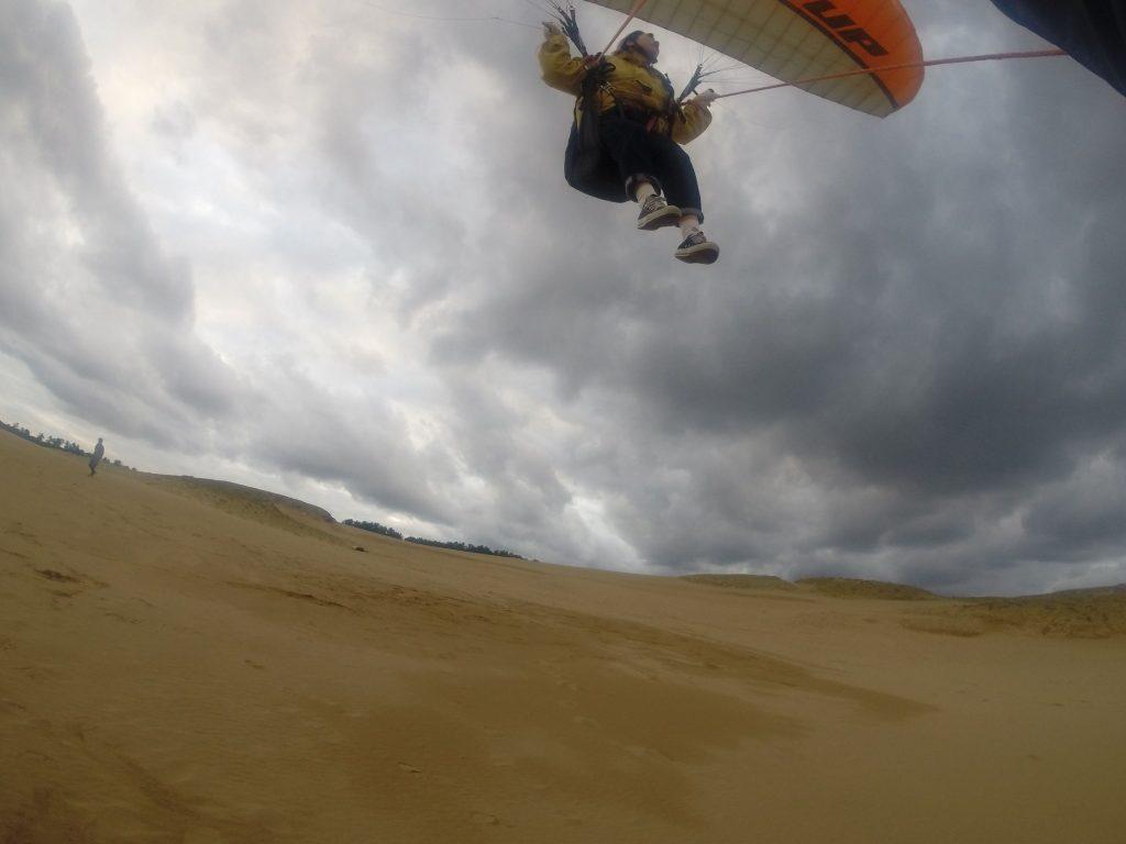パラグライダーに苦手な強風は吹かずに、たっぷり飛べた一日でした^^